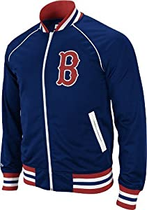 Boston Red Sox Mitchell & Ness MLB Broad Street Throwback Full Zip Premium Track Jacket