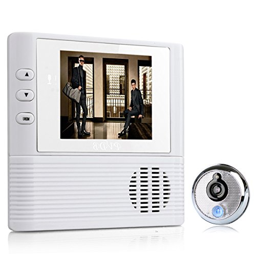 Read About Junyo 2.8 LCD Wireless Digital Doorbell Home Security Camera Viewer