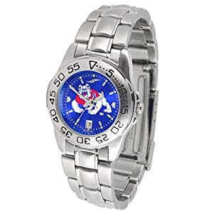 Fresno State Bulldogs NCAA AnoChrome Sport Ladies Watch (Metal Band) by SunTime