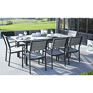 salon de jardin polywood 1 table jardin 8 fauteuils de. Black Bedroom Furniture Sets. Home Design Ideas