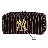 ニューヨークヤンキース/NYヤンキース BOXペンポーチ (BK/ピンストライプ) 45506 文房具/収納/ペン/ロゴ