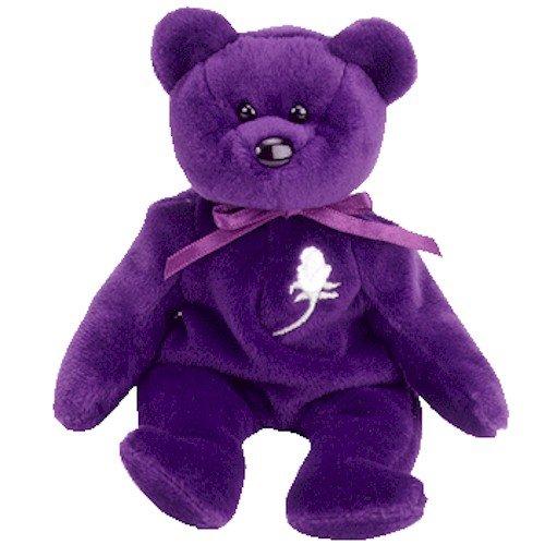 2c3507ecae4 Princess the Purple Teddy Bear (Princess Diana) - MWMT Ty - Import It All