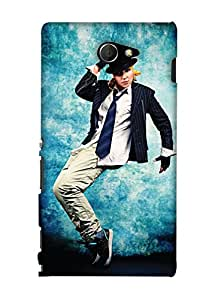 Print Haat Back Cover for Sony Xperia M2 (Multi-Color)