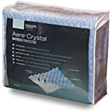 Fashion Bed Group QD0373 Aere Crystal Gel Mattress Protector with Cooling Fibers and Blue 3-D Fabric, Queen