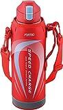 和平フレイズ 水筒 ワンタッチ栓ダイレクトボトル 1.0L フォルテック・スピード レッド FSR-7370