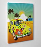 Canvas Wall Art Prints - VW beetle 1 - 30cm X 20cm