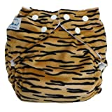 Fuzzibunz Elite One Size Cloth Diaper - Minky Tiger