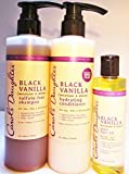 Carols Daughter Black Vanilla Styling Kit- BLACK VANILLA MOISTURE & SHINE SULFATE-FREE SHAMPOO, HYDRATING CONDITIONER & PURE HAIR OIL