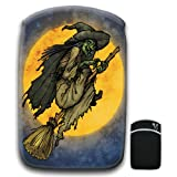 Cackling Witch Riding Broomstick Full Moon For Amazon Kindle Fire & Kindle 3G Keyboard Soft Protection Neoprene Case Cover Sleeve Bag With Pocket which is Ideal for Headphones, Data Cable etc