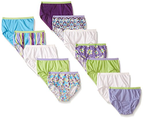 Fruit of the Loom Little Girls' Brief , Assorted, 6(Pack of 12)