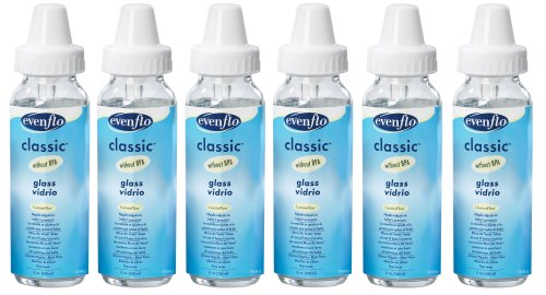 Purchase Evenflo 6 Pack Classic Glass Bottle, 8-Ounce