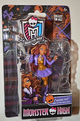 "Clawdeen Wolf - Monster High 3.5"" scary cute Howl-oween figure"