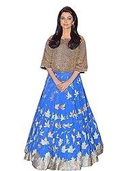 vaankosh fashion women blue bollywood designer lehenga