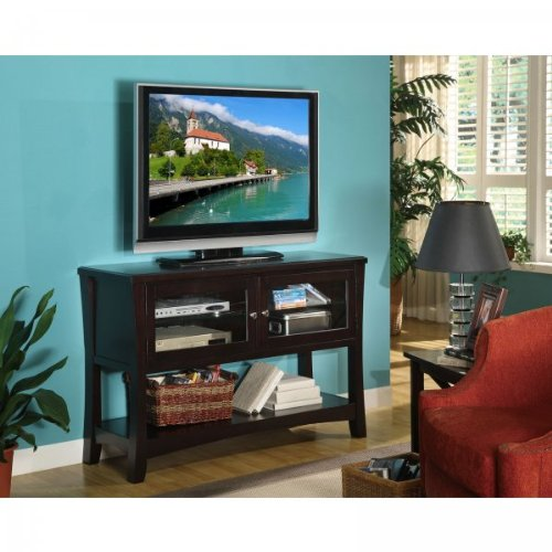 buy low price we furniture 52 inch wood console table tv