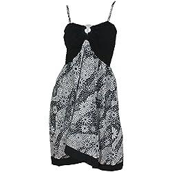 one-size-fits-più tubino / insabbiamento -allover fiore stampato likre (nero)
