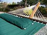 Quilted Double Hammock Bed, Solid Green w/ Pillow, Padded Comfort, Premium Quality. Brand new, Stand Not Included.