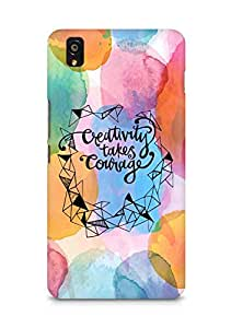 AMEZ creativity takes courage Back Cover For OnePlus X