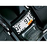 Kuryakyn 3148 Gloss Black Curved Laydown License Plate Mount with Frame For Harley-Davidson (KU 3148)