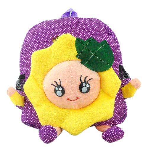 Cute Kawaii Baby Children'S Backpack Sunflower Polka Dots Pre-Schoolbag Bookbag front-1027798