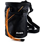Sukoa Chalk Bag for Rock Climbing, Weightlifting, Bouldering & Gymnastics - Quick-clip Belt - 2 Large Zippered Pockets for Securely Holding iPhone 6 Plus / Galaxy S7 Edge and Other Valuables