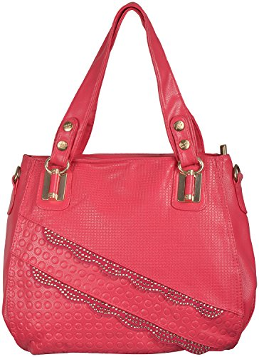 2a4ac873ac Gouri Bags Pink Colour Women Handbags Shoulder Soft Leather Bag Ladies  Purse Girl Tote Gift Sale