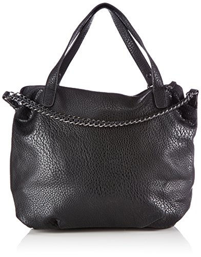 PIECES Pcroma Chain Bag, Borsa shopper donna, Nero (Schwarz (Black Black)), 39x36x9 cm (B x H x T)