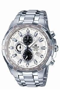 Casio - EF-539D-7A - Edifice - Montre Homme - Quartz Chronographe - Cadran Blanc - Bracelet Acier Gris