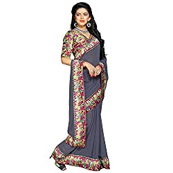Aar VEE Grey Lace Border Saree
