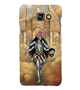 Fuson Premium Back Case Cover Goddess Kali With blue Background Degined For Samsung Galaxy A5(2016)::Samsung Galaxy A5 A510F