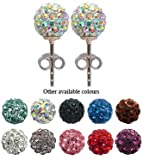 Swarowski Crystal Stud Earrings by GlitZ JewelZ © - 5/16' (8MM) - Silver - made with over 100 Swarowski crystals - bling bling!! Comes packed in a lovely velvet pouch - Choose the colour & size from the menu below