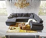 Couch Cariba Schwarz Grau 322x250 cm mit Schlaffunktion...