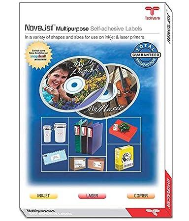 NOVAJET 2 CD Self Adhesive Paper Labels/Sticker (100 Sheets ...