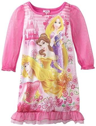 (疯抢)迪士尼Disney Girls 2-6X Princess Ready For The Ball公主长袖长裙粉$12.76