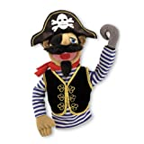 Melissa & Doug Pirate Puppet With Detachable Wooden Rod for Animated Gestures (Color: Multicolor, Tamaño: H: 11 x W: 10 x D: 5.5)