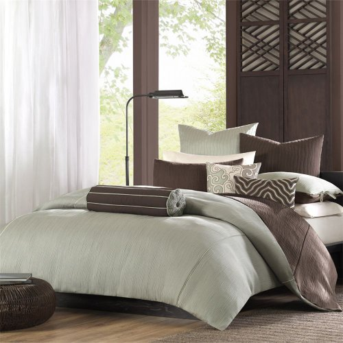 Tao Reflection Duvet - Sage/Dk Chocolate - Full/Queen 