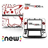 Ci-Yu-Online VINYL SKIN [new 3DS XL] - Pokemon Pikachu White Spark - Limited Edition STICKER DECAL COVER for NEW Nintendo 3DS XL / LL Console System