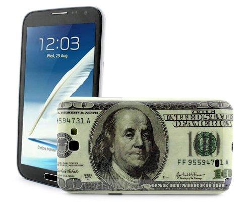 Bonamart ® Retro Us Usd $100 Dollar Money Pattern Hard Back Case Cover Skin For Samsung Galaxy Note 2 Ii N7100