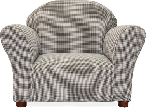 picture Fantasy Furniture Roundy Chair Gingham, Brown