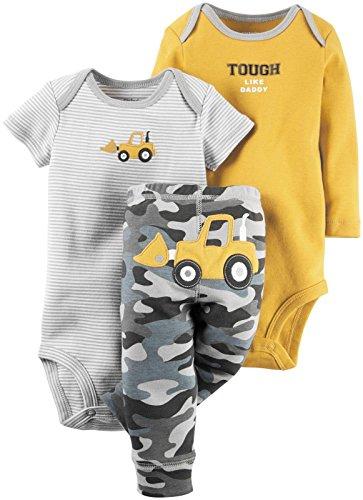 Carter's Baby Boys 3 Pc Back Art 126g401, Yellow, 18 Months
