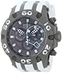 Men's 12086 Subaqua Chronograph Grey Dial White Polyurethane Watch by Invicta