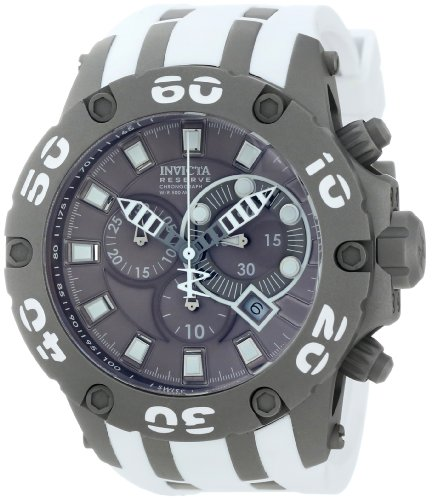 Invicta Men's 12086 Subaqua Chronograph Grey Dial White Polyurethane Watch