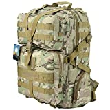 TTLIFE Military Tactical Backpack Large Army Assault Pack Bag Backpack Rucksacks for Outdoor Hiking Camping Trekking Hunting 45L CP