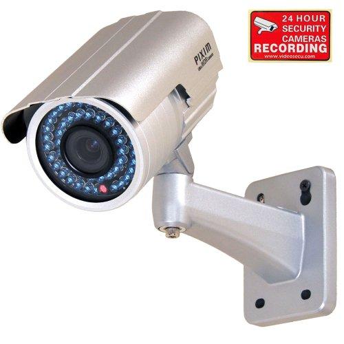 Videosecu Outdoor Day Night Vision Infrared Ir Bullet Security Camera 1/3'' Pixim Color Ccd 690Tvl High Resolution Wdr Osd 4-9Mm Vari-Focal Lens For Cctv Dvr Home Surveillance System Ir738Wd M9V