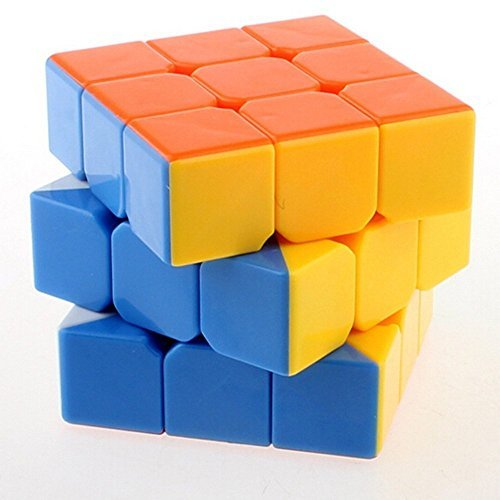 maxin 3x3 3x3x3 Speed Cube Anti-POP Structure 6 Solid Color Eco-friendly Plastics Stickerless Cube