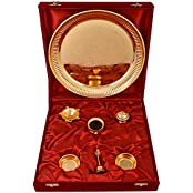 German Silver Plated Pooja Plate Pooja Thali Pooja Articles Dealer Silver Wilver Gold Plated GL Pooja Thali Set