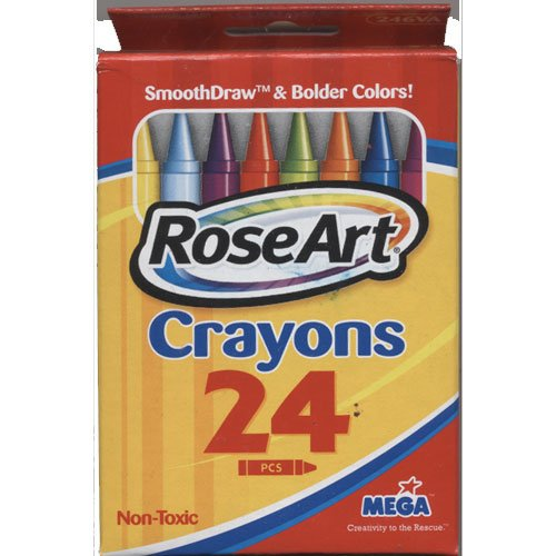 RoseArt 24 Count Childrens Non-Toxic Crayons