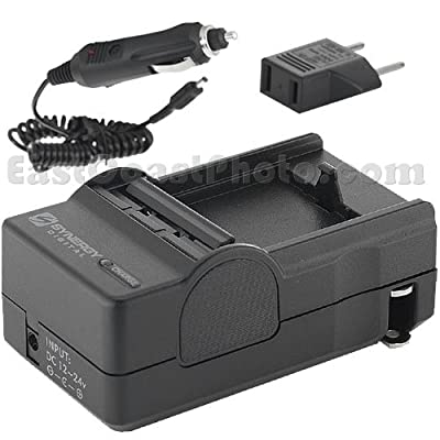 Panasonic SDR-S300 Camcorder Battery Charger (110/220v with Car & EU adapters) - Replacement Charger for Panasonic CGA-S303 Battery