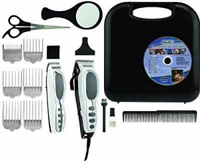 Wahl 9284 Pet-pro Combo Kit 17 Piece Pet Grooming Kit - Deluxe Series, Chrome/white