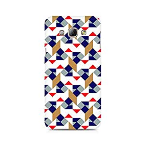 Ebby Checked Square Premium Printed Case For Samsung A8