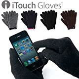 iTouch Gloves アイタッチグローブ 2012-2013 ソリッド (L, ブラック)